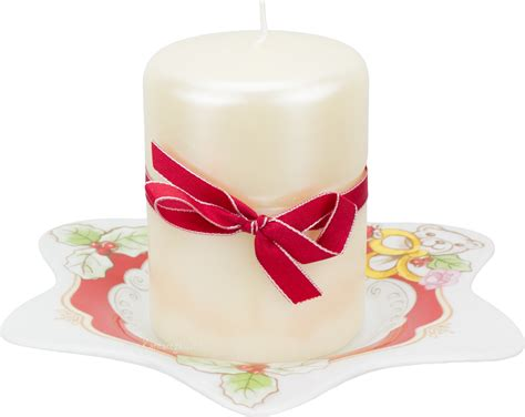 candela thun candela con piattino stella dolce natale thun