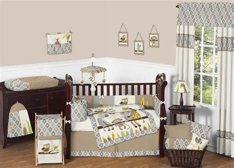 Sweet Jojo Design Safari Monkey Owl Giraffe Koala Bear Koala Crib Bedding