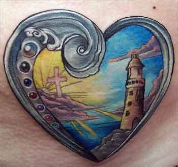 tattooed heart lafayette indiana alana lawton lighthouse in a heart tattoo