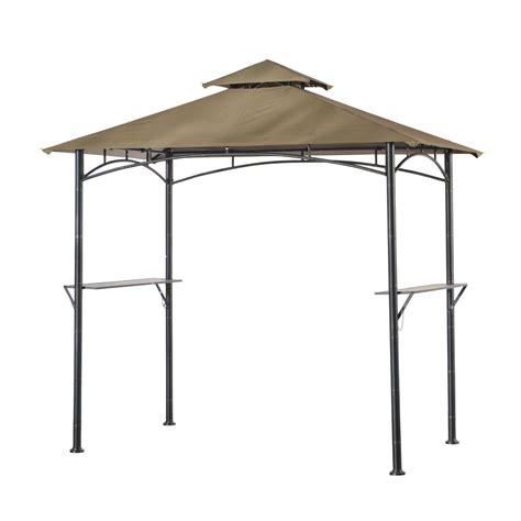 pavillon metall 4 x 5 shop sunjoy black steel rectangle grill gazebo exterior