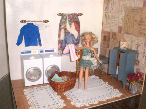 handmade barbie doll house homemade barbie furniture barbie doll house laundry room complete room washing