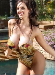 big denise milani in swimming pool hq