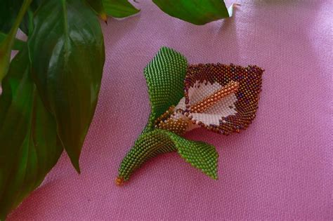 fiori con perline schemi gratis calla tutorial tecnica tessitura di perline libri schemi