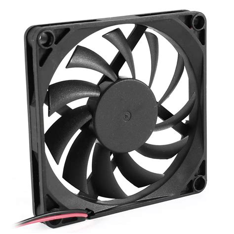 white pc case fans 80mm 2 pin connector fan for computer case cpu