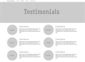 Testimonials Templates by Testimonial Page Template Images