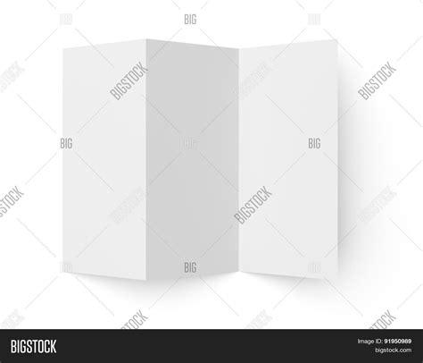 Tri Fold Brochure Paper Stock - leaflet blank tri fold white paper image photo bigstock