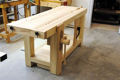 roubo bench  hand  wooden wagon vise finewoodworking