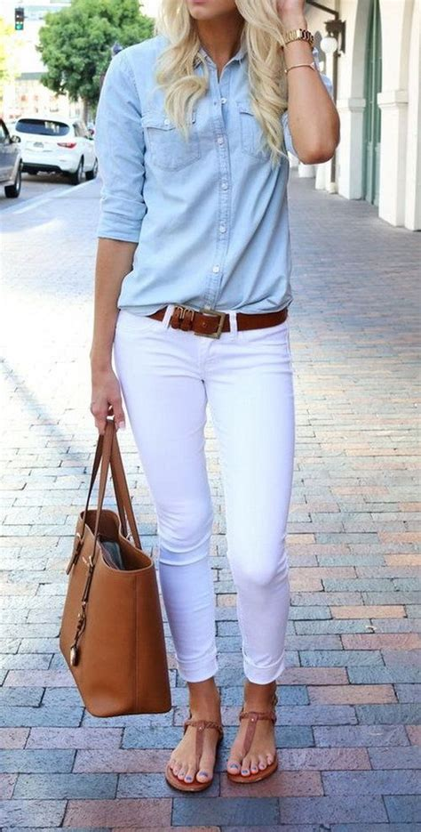 The White Jean Is All About And Summer by What To Wear With White This Summer S
