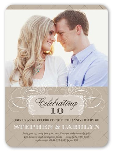 Celebrating Us 5x7 Invitation   Wedding Anniversary