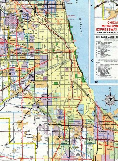 map of chicago road construction interstate guide interstate 94