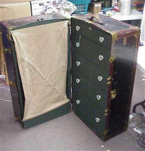 Antique Wardrobe Steamer Trunk Value by Vintage Antique Neverbreak Steamer Wardrobe Trunk