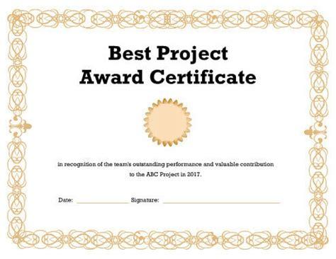 27 Printable Award Certificates Achievement Merit Honor Award Template