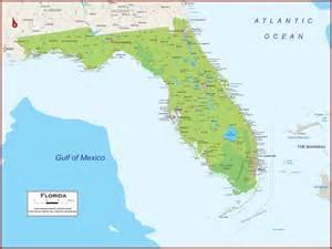 physical map of florida florida physical state map