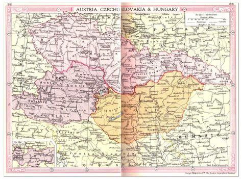 czechoslovakia map austria czechoslovakia hungary map 1935 philatelic database