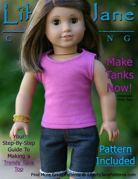 free patterns american girl doll free 18 inch doll clothes pattern tank top liberty jane