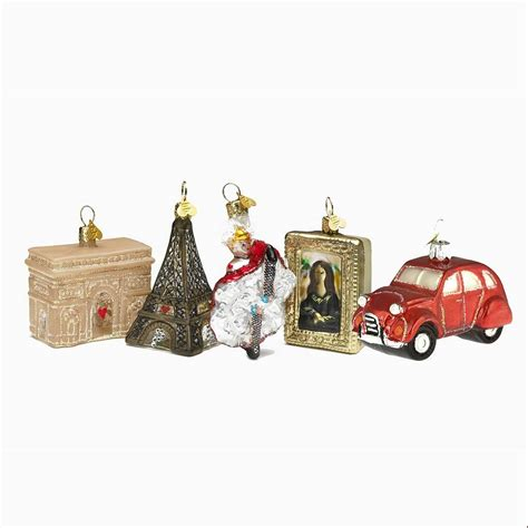 christmas decorations little paris set by bombki