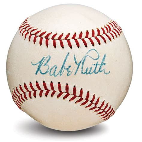 Lot Detail Outstanding Babe Ruth Single Signed American