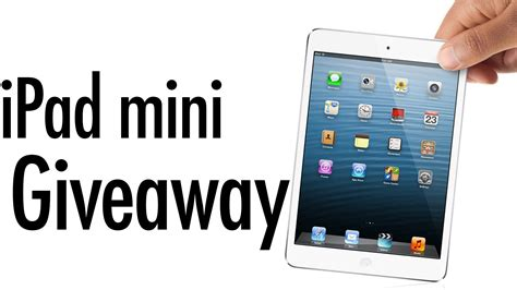 Apple Ipad Giveaway Facebook - new apple ipad mini giveaway 7 inch tablet 2012 and announcement tech and geek