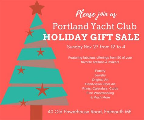 boat club portland maine holiday gift sale at portland maine yacht club