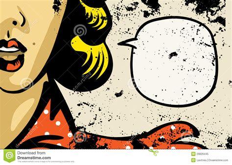 imagenes retro y vintage woman retro comics stock vector illustration of blab