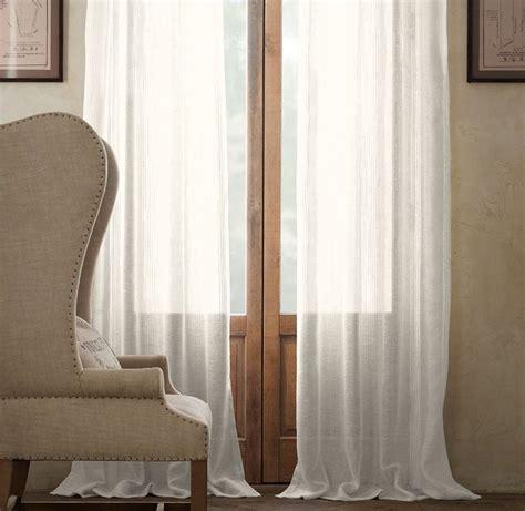 restoration hardware belgian linen drapes pinstripe sheer belgian linen drapery drapery