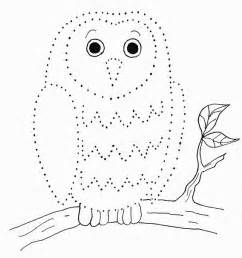 owl dot drawing samantha bell