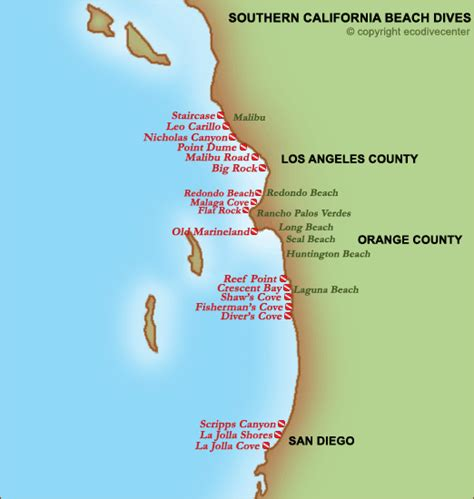 california map of beaches best beaches california map