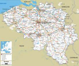 map of detailed clear large road map of belgium ezilon maps