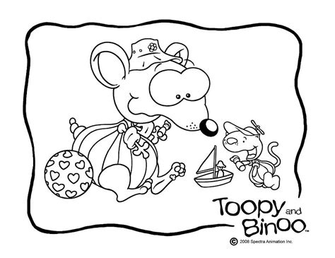 toopy and binoo coloring pages coloring home