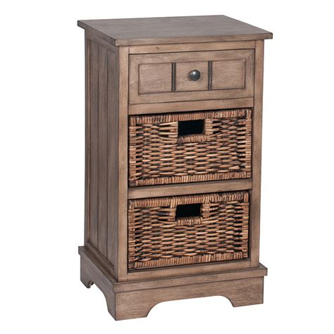 dorchester range wooden 1 drawer 2 basket storage unit