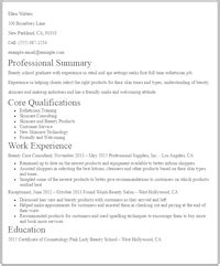 esthetician resume sle no experience eye grabbing no experience resumes sles livecareer