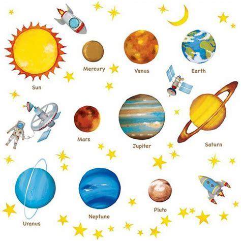 bilder kinderzimmer sonne wandsticker planeten sterne weltraum tapetenwelt