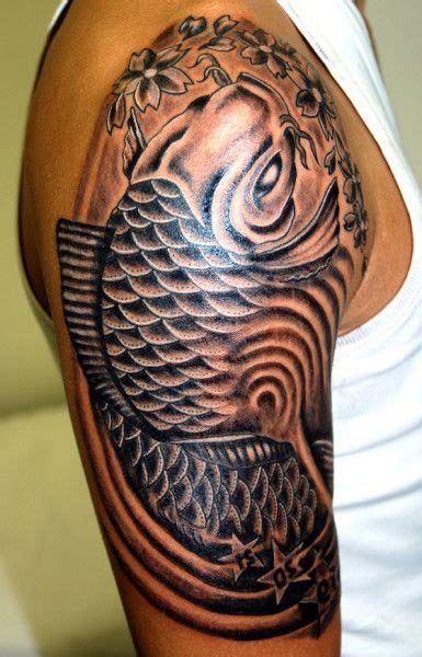 tribal koi fish tattoos tribal fish tattoos for s half sleeve arm tattoosk