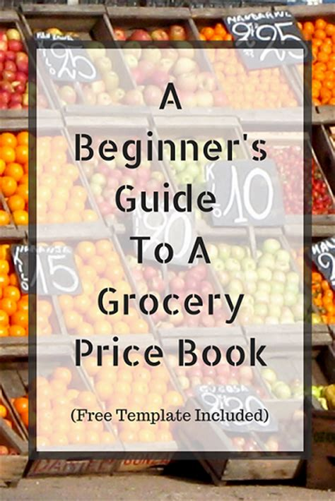 beginners guide   grocery price book  template