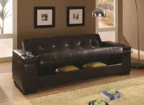 Futon With Storage Underneath Furniture Outlet Futon Sofa Bed Storage Futon Coaster 300143