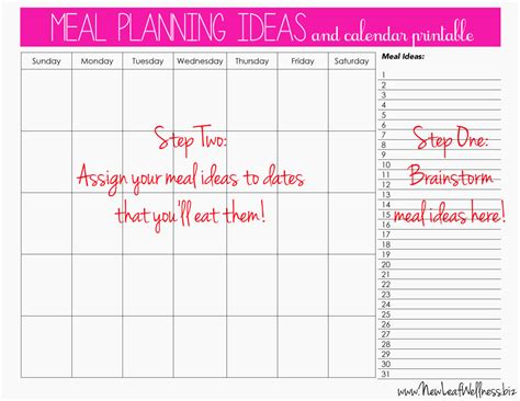 printable meal plan calendar meal plan for two weeks and only grocery shop once new