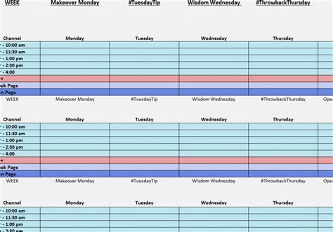 social media posting calendar template 2016 social media organizer