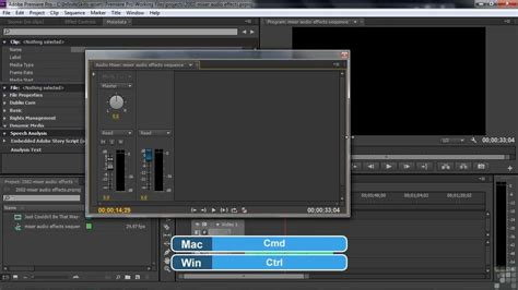 tutorial adobe premiere effects adobe premiere pro cs6 tutorial mixer audio effects