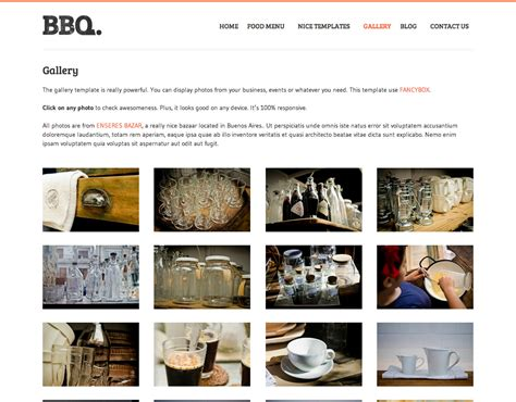 themes gallery 3 bbq restaurant wordpress theme by nicethemes themeforest