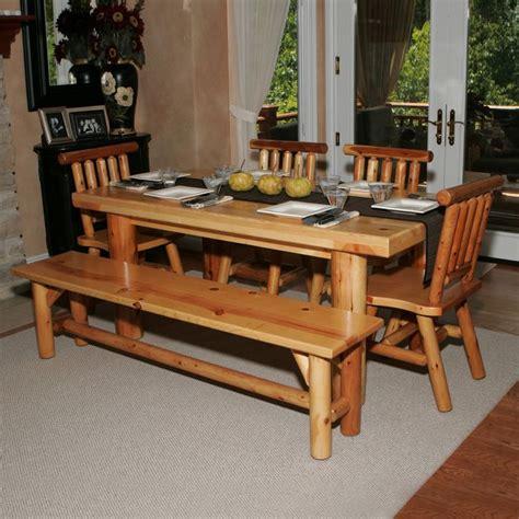 Kitchen Table Ls Moon Valley Cedar Works L509 Kitchen Table Set Pinpoint
