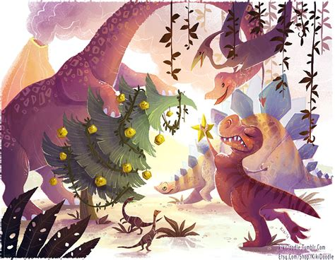its a dinosaur christmas by kiki doodle on deviantart