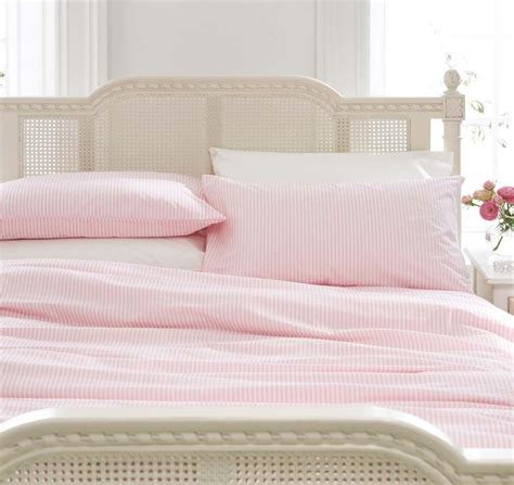 pink bed linen uk pink striped bedding bed linen duvet cover set or