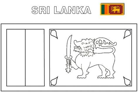 sri lanka flag free colouring pages