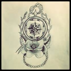 vintage compass tattoo never lost nautical compass tattoo