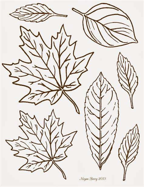leaf pattern line free printable clip art leaves by megan berry