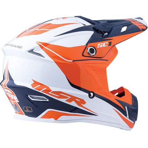 motocross gear phoenix msr sc1 phoenix helmet white orange navy sixstar racing