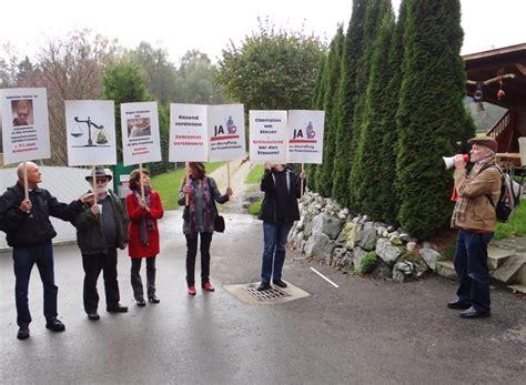 sebastian vettel haus demo vor vettels haus kreuzlingerzeitung