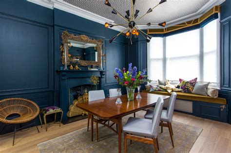 north london victorian home midcentury dining room