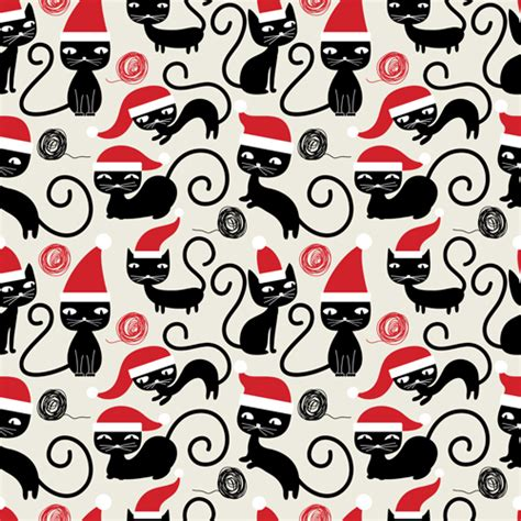 cute christmas pattern cute christmas seamless pattern vector 15 vector