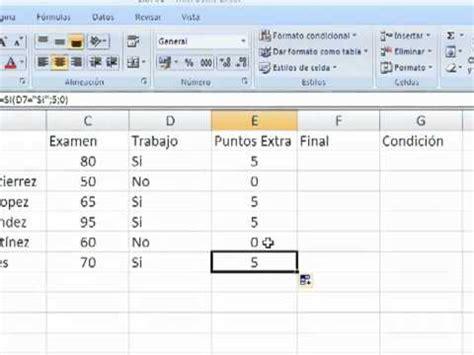 tutorial excel condicional si simplexcel formula condicional si en excel youtube